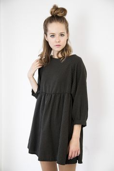 so nice! not sure if id look more like a peasant in it tho - Khaki Brown Gingham Check Angel Dress