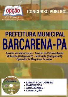 Nova -  Apostila Concurso Barcarena PA - Vários Cargos  #apostilas