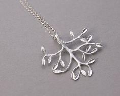 ZELKOVA TREE Necklace - 925 sterling silver jewelry