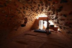 Lisa Hathaway's in-home climbing cave. Someday..