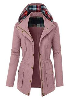 Fashion boomy womens zip up military anorak jacket w/hood in Anorak Jacket, Hoodie Jacket, Parka, Coats For Women, Jackets For Women, Winter Fashion Outfits, Zip Ups, Leather Jacket, Sport