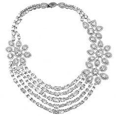 Diamond Jewelry www.finditforweddings.com Diamond necklace