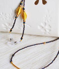 Eyeglasses Chain for fine glasses. http://www.modnienoszone.pl/cezar-3-kolory  #eyeglasses #chain  #necklace