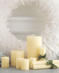 Natural Beeswax Candles to go with your honey bee theme