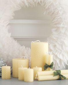 Natural Beeswax Candles