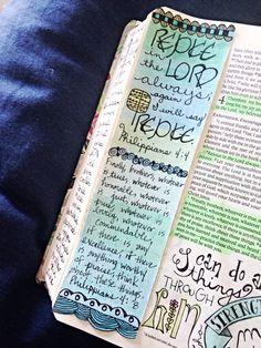 Working through Philippians. Bible journaling. ✭★✭