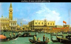 The Basin of San Marco on Ascension Day 1732  (Giovanni Antonio Canal) Canaletto