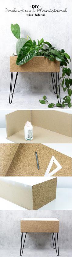 DIY Pflanzenständer (Kork/OSB)