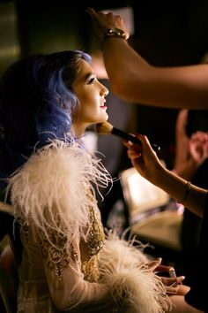 Backstage at London Fashion week. Photography by Rachel Sherlock.