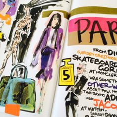 Donald Robertson illustration for Marie Claire Runway