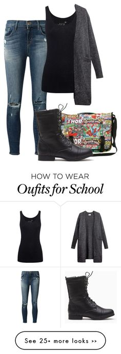 Second day of school by adrijana-fashion on Polyvore Clothing, Shoes & Jewelry - Women - nike women's shoes - http://amzn.to/2kkN5IR