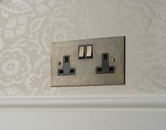 This #antiqued #brass #plug #socket works beautifully with our black inserts. However you can mix and match for the perfect look.