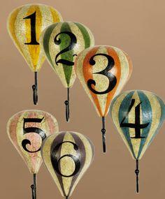 Hot Air Balloons -- Wall Hooks