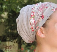 Charming Flower Tichel For Special Occasions,Hair Snood, Head Scarf,Head Covering,jewish headcovering,Scarf,Bandana,apron on Etsy, $49.83