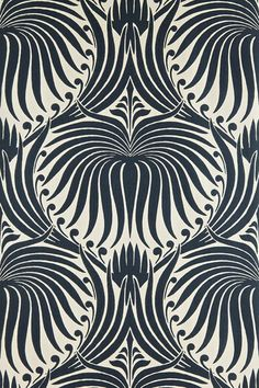 Lotus Wallpaper  Farrow & Ball's large-scale graphic print is stunning.