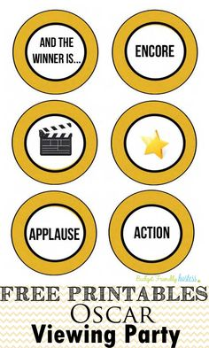 Oscar Viewing Party Free Printables. Academy Awards Party. #printables #freeprintables