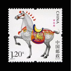 China Postage Stamps Zodiac The Horse  Comic Style 1pcs , High Value For Collecting About Animal   2014-1