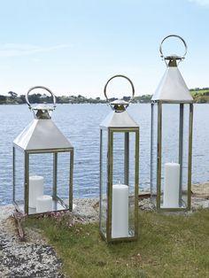 Beau Big Stainless Steel Lanterns