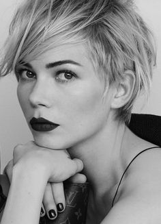 Michelle Williams for Louis Vuitton....@Jess Liu Levonick ...for some reason, this hair cut makes me think of you.