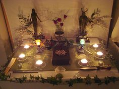 "Altars:  ""Pagan Altar 01,"" by Druidstone, at deviantART."