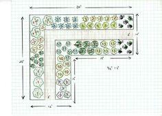 Garden plan for a cutting garden: A Garden of Bouquets, Year After Year (using perennials)