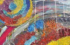 Dit is een: Acrylverf op doek, titel: 'Wormhole' kunstwerk vervaardigd door: Zippora Meijer