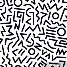 90s Pattern, Pattern Art, Abstract Pattern, Geometric Pattern Design, Line Design Pattern, Pattern Nails, Monochrome Pattern, Black White Pattern, Pattern Designs