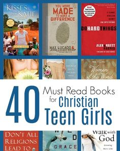MUST READ Books for Christian Teen Girls is part of Teen girl books - Here is a curated list of books that will help disciple a Christian teen girl towards spiritual maturity and a Biblical worldview Teen Girl Books, Books For Teens, Book Girl, Book Logo, Good Books, Books To Read, Homeschool Books, Homeschooling Resources, Parent Resources