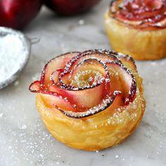 Rosas de manzana y hojaldre | Más Chicos