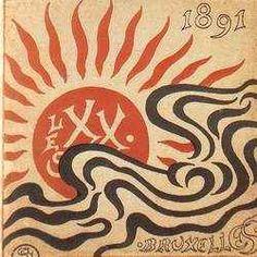 #LesXX Georges Lemmen (Belgian, 1865–1916), Catalogue des XX en 1891