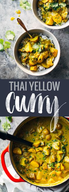 Thai Yellow Curry with Beef and Potatoes - made from scratch! so creamy and fragrant - perfect comfort food.