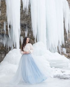 One of the most fairytale places we have ever visited Snow Queen, Most Favorite, Messy Hairstyles, Fairytale, Waterfall, Tulle, Comfy, In This Moment, Wedding Dresses