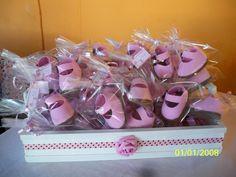 Lembrancinhas de Chá de Bebe Sapatinhos de EVA