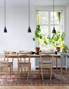 Scandinavian light, persian kelim