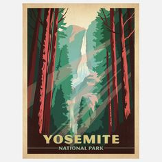 Bridal Falls...OMG LOVE this place!  Anderson Design Yosemite Print, $19, now featured on Fab.