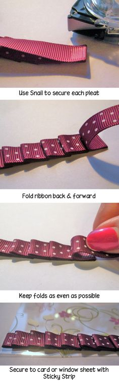 Pleating ribbon