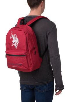 8b7576cf5a6e New Mens Backpack U.S. POLO ASSN. Logo Emblems Front Pocket Zip Two Strap  BAG040  fashion  clothing  shoes  accessories  mensaccessories  bags (ebay  link)