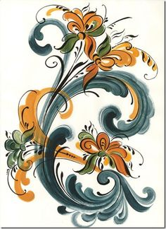 rosemaling I Adore it ...must be the whorls and scrolls..!!