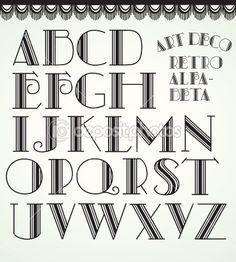 Art deco alphabet