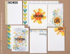 journaling cards for PL by Geralyn Sy