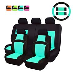 NEW ARRIVAL- CAR PASS RAINBOW Universal Fit Car Seat Cove...…
