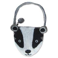Billie Badger | Felt Animal Bags | Sew Heart Felt