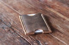 Leather Card Holder, Case, Wallet - Ultra Slim Minimalist Vertical Card Sleeve - 023 - Men's Leather Wallets --- JooJoobs Original on Etsy, $14.00