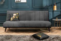 Luxusná rozkladacia sedačka šedá. Banquettes, Sofas, Couch Design, Sofa Couch, Elegant, Interior, Metal, Furniture, Studio