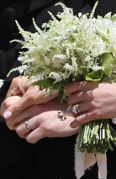 Prince Harry picked her flowers for her bouquet from his mothers garden.