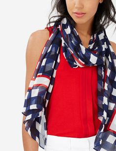 Gingham Scarf- Pair this classic pattern with a denim jacket for a casual weekend look!