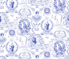 Women of Science and Learning Toile de Jouy by vinpauld