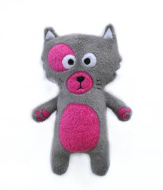 The Bad Kitty plushie / Hand made plush doll by FunkySunday