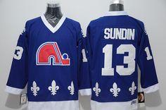 Quebec Nordiques #13 Mats Sundin Blue CCM Throwback Stitched NHL Jersey