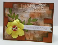 Debbie's Designs: Tuesday Tips or Techniques-Brick Wall!
